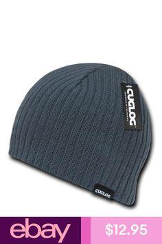 8a1dc490aac7a8 Charcoal Solid Warm Winter Ski Snowboard Knit Skull Beanie Beanies Cap Hat  Hats