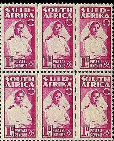 Postage stamp honoring nurses, South Africa.