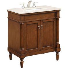 "Lexington 30"" Single Bathroom Vanity Set, Brown"