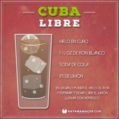Fruit Drinks, Drinks Alcohol Recipes, Yummy Drinks, Alcoholic Drinks, Cuban Cuisine, Summertime Drinks, Happy Hour Drinks, Classic Cocktails, Recipes From Heaven