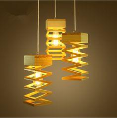 現代の灯ペンダントライトウッドランプレストランバーコーヒーダイニングルームled吊り照明器具木製送料無料