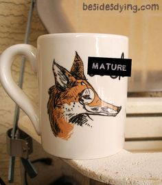 Lefty Dirty Dishes Mugs Fox mugmature by besidesdying on Etsy, $12.00