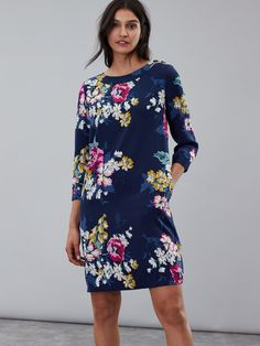 Joules Daisy Boat Neck Woven Dress in Floral Boat Neck, Blue Dresses, Floral Dresses, Outfit Sets, Dress Outfits, Kids Fashion, Cold Shoulder Dress, Daisy, Clothes For Women