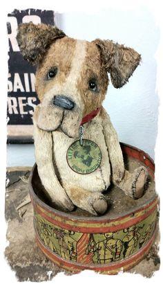 "Image of ""Scatter Sunshine"" Jack Russell Terrier Dog ~ 8"" size - *  Whendi's Bears"