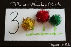 Perfect for spring! Fun way to help kids practice number recognition.