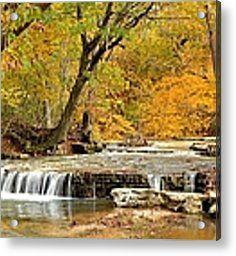 Pedelo Falls Acrylic Print by Deena Stoddard