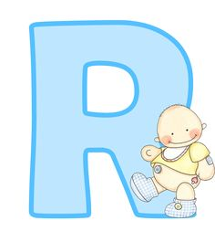 Letras mayúsculas para imprimir, de bebé. Letra R.
