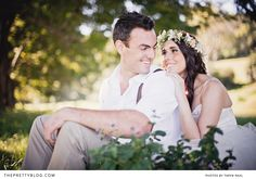 Romantic outdoor couple shoot with flower crown   Photography: Taryn Rahl, Hair : Cindy Prinsloo, Make-up: Iris Gomez, Venue: Hamiltons Country Estate