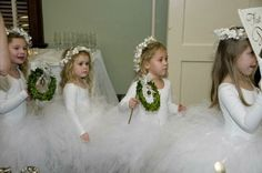 """Precious """"Jingle Belles"""" who came down the aisle to announce the Bride's entrance!"""