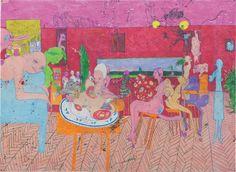 Dasha Shishkin (Russian, b. 1977), Survival Takes a Good Memory, 2012. Acrylic and pastel on mylar, 60 x 83 7/8 in.