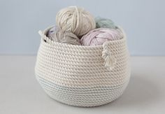 Stitched Rope Basket - Creativebug online class $10