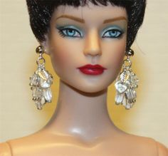 """Crystal"" SP Chandelier Earrings for Tonner Tyler Cami Dee Anna AM Gene Sybarite"
