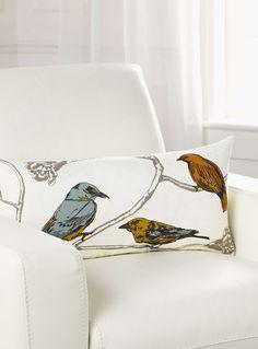 Le coussin les oiseaux 12x24 pouces - Coussins | Simons