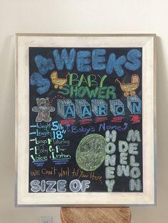 Chalkboard Pregnancy, Frame, Baby, Home Decor, Picture Frame, Decoration Home, Room Decor, Baby Humor, Frames