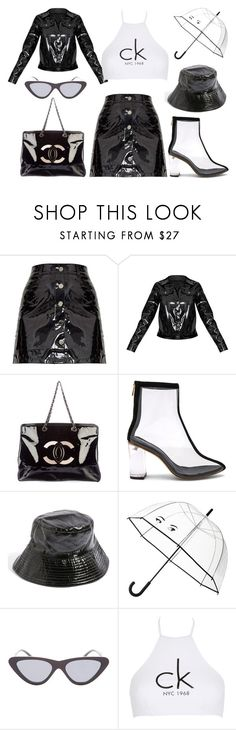 """Rainy Days"" by octaviajene ❤ liked on Polyvore featuring Chanel, Raye, Topshop, Kate Spade and Calvin Klein"