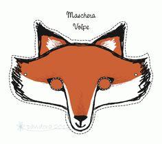 maschera volpe * fox mask Carnevale Piccolini Barilla