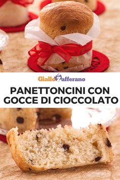 Panettoncini con gocce di cioccolato: piccoli panettoni formato mignon arricchiti con cioccolato fondente e accompagnati da una deliziosa ganache al cioccolato aromatizzata con la scorza di arancia. Finalmente è Natale! #panettone #panettoncini #morbidi #gocce #cioccolato #italian #food #sweet #dolce #dessert #fluffy #natale #christmas #feste #easy #recipe #ricetta #facile #giallozafferano [Easy italian fluffy chocolate chips mini panettoncini recipe] Christmas Sweets, Xmas, Pizza Yeast, Italian Pastries, Pin Pin, Biscotti, Finger Foods, Italian Recipes, Cake Recipes