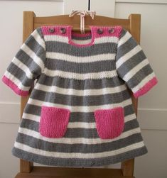Happy Day Baby Dress Knitting pattern by Lilia Vanini