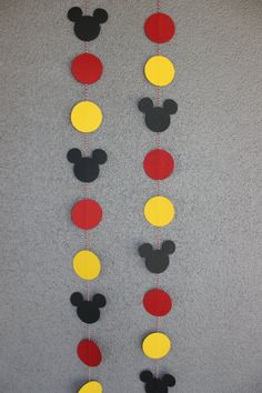 Mickey Mouse Garland by CraftyCreationsShop9 on Etsy