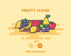 Ознакомьтесь с этим проектом @Behance: «FREE - FRUITY ICONS» https://www.behance.net/gallery/37953745/FREE-FRUITY-ICONS