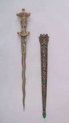 Dagger with Sheath, 19th century. Turkish. The Metropolitan Museum of Art, New York. Gift of Giulia P. Morosini, in memory of her father, Giovanni P. Morosini, 1923 (23.232.3a, b) #sword