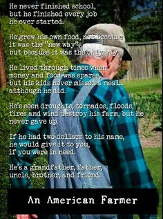 Love this. Makes me thing of my Paw Paw. So proud to come from a family of farmers.