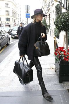 Rosie Huntington-Whitely in perfect winter pieces