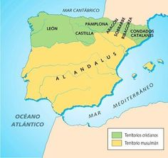 peninsula iberica siglo X Map Of Spain, Spain And Portugal, Religious Tolerance, Iberian Peninsula, Islamic World, Historical Maps, Idioms, Planer, Medieval