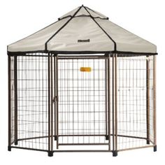 Archie & Oscar™ Abigail Steel Yard Kennel & Reviews | Wayfair Portable Dog Kennels, Dog Playpen, Cadillac Eldorado, Outdoor Dog, Indoor Outdoor, Illinois, Gazebo Replacement Canopy, Crate End Tables, Dog Pen