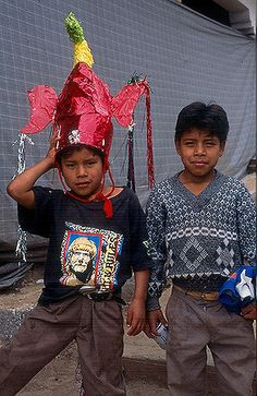 Janitzio chicos | young boy poses with brother's devil headd… | Flickr