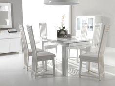 Contemporary White Kitchen Table Set