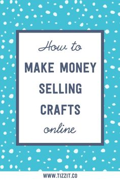 How to make money selling crafts: 6 tips for a successful handmade shop. In this – Make Money Pins Selling Crafts Online, Craft Online, Craft Business, Business Tips, Business Marketing, Business Video, Handmade Shop, Handmade Crafts, Handmade Jewelry