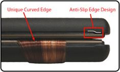 Anti-slip edges capture all the hair, preventing stray hairs from slipping between the plates, causing snags and damage.  Optimized for versatile styling, the curved edge plates allow for smooth styling without creating kinks or dents in the hair like other irons.  Unique curved edge plates allow the styling freedom of creating any look you want! From straight and sleek, to sexy waves, to mega curls, this tool does it all!
