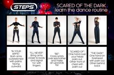 Learn The New Steps Dance Routine! Famous Dance Moves, Steps Dance, Claire Richards, Scared Of The Dark, Dance Routines, 10 Year Old, Present Day, Pop Group, The Darkest