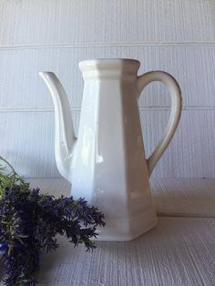 Your place to buy and sell all things handmade Water Pitchers, White Dishes, Watering Can, Crock, Tea Pots, Pottery, Canning, Tableware, Vintage