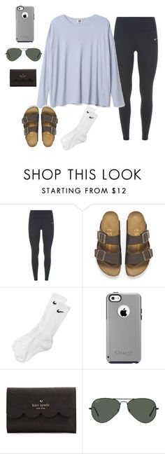 """""""Untitled #284"""" by jazmintorres1 ❤ liked on Polyvore featuring NIKE, Birkenstock, OtterBox, Kate Spade and Ray-Ban"""