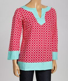 Love this Pink Circles Sarah Tunic - Women by Haley and the Hound on #zulily! #zulilyfinds