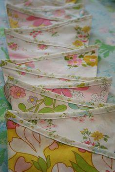 Vintage sheet bunting.