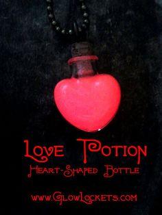 Glow Glass Love Potion Heart Shaped Bottle Zelda