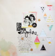 #papercraft #scrapbook #layout - this one time.... : Color Swatch layouts
