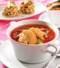 """Exótica y deliciosa: """"Sopa de flor de calabaza"""""""