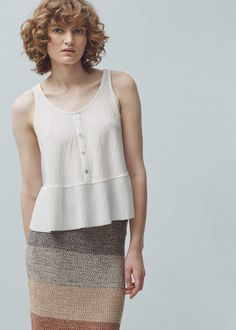 Flowy textured top -  Women | MANGO USA