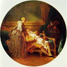 Autore: Honoré Fragonard Nome dell'opera: La famiglia felice Data: 1777-1779 Tecnica: olio su tela Collocazione attuale: proprietà privata, New York