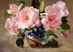 Anne Cotterill (British, 1933-2010). Цветочные натюрморты