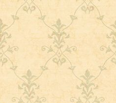 vintage antique trellis wallpaper | Large Muted Sage Trellis Damask on Antiqued Faux - Lattice, Leaf, Vine ...