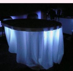 under table light