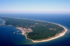 Hel Peninsula form the sky Oh The Places You'll Go, Places To Visit, Costa, Wild Nature, Baltic Sea, Fishing Villages, Open Water, Central Europe, Airplane View