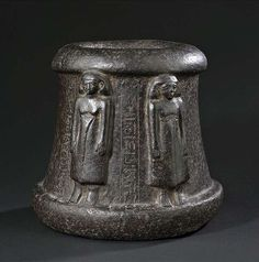 An unusual ceremonial object of black stone, possibly a small altar. Egypt, 12th Dynasty, Middle Periode. Property of an old German aristocratic collection.