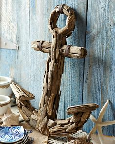 My next project for the girls bedroom!!! Driftwood Anchor - Tommy Bahama