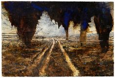 Anselm Kiefer, Rorate Caeli Desuper , 2016 A nselm Kiefer: Walhalla is at White Cube , Bermondsey until 12 February 2017 Kiefer's b. Anselm Kiefer, Cali, Art Moderne, Contemporary Artists, Oeuvre D'art, Painting Inspiration, Landscape Paintings, Landscapes, Painting & Drawing